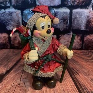 Vtg 1989 Kurt Adler Santa Mickey Mouse Paper Mache
